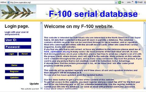 Super Sabre Web Site Links